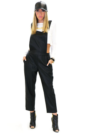 LUKE VEGAN LEATHER OVERALL - Haute & Rebellious