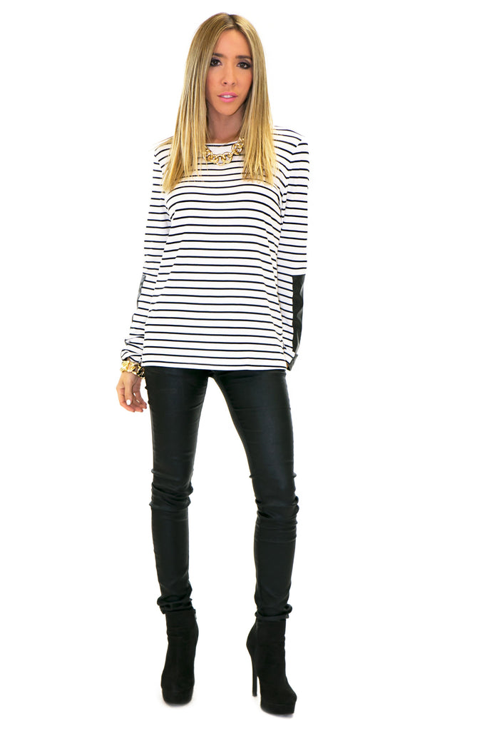 PAUL CONTRAST STRIPE LONG SLEEVE SHIRT