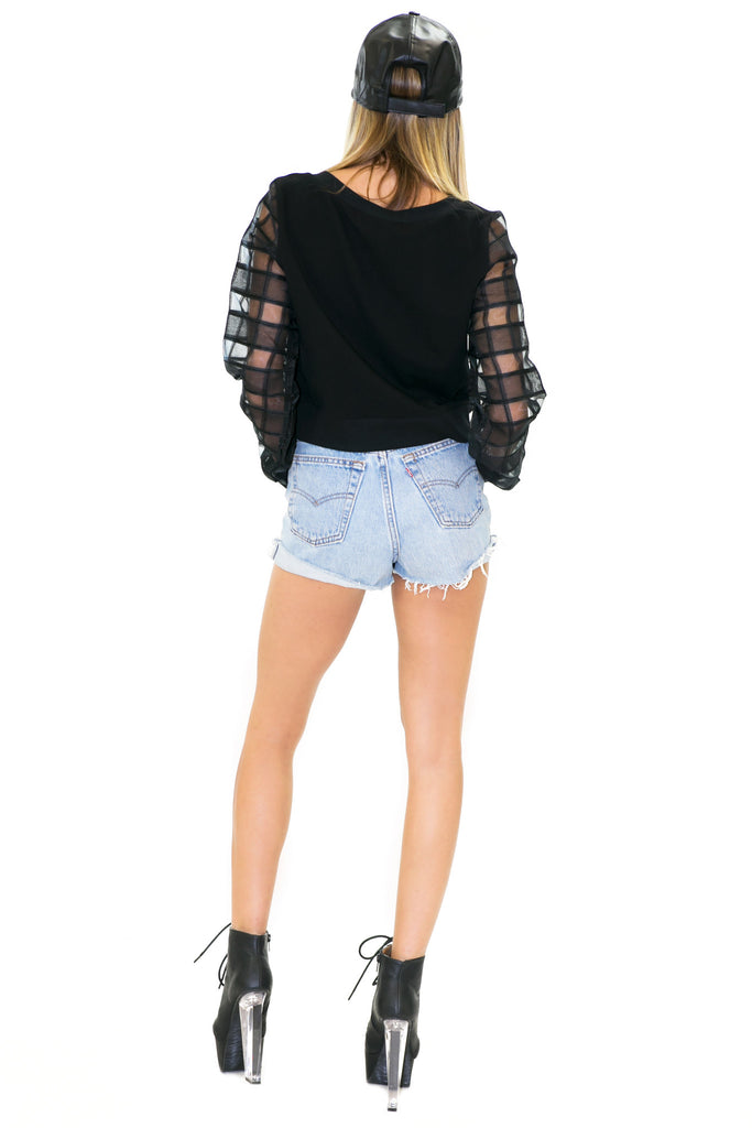 SALINA CROP SWEATSHIRT TOP