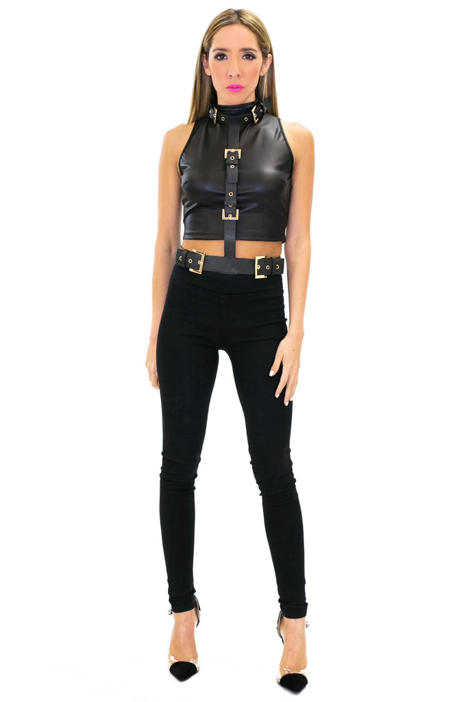 GRAIG GOLD BUCKLE HARNESS BELT