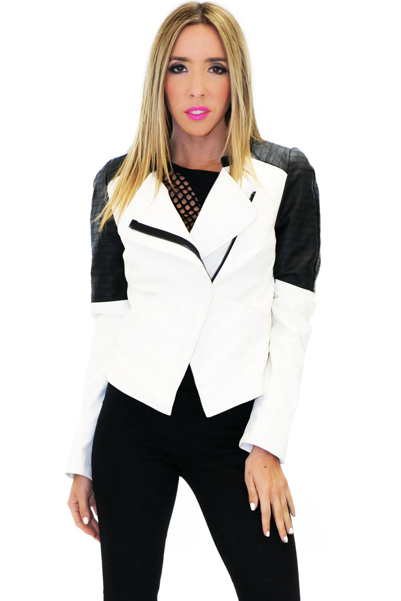 BRUCE VEGAN LEATHER MOTO JACKET - Haute & Rebellious