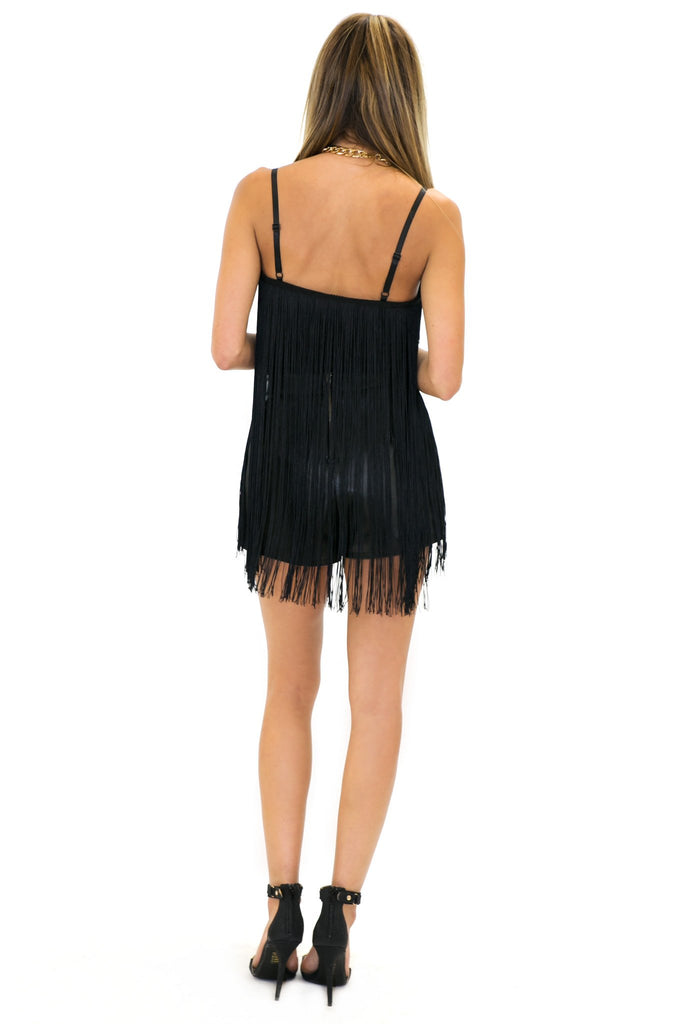 INDYA FRINGE CROP TOP