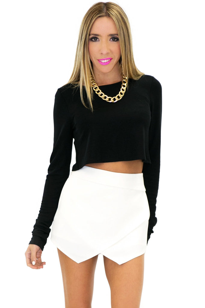 HALIE ASYMMETRICAL SKORT - White