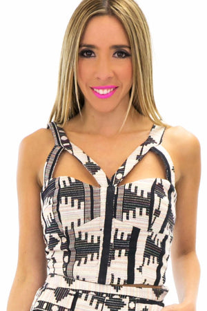 ETHNIC PRINT CROP TOP - Haute & Rebellious