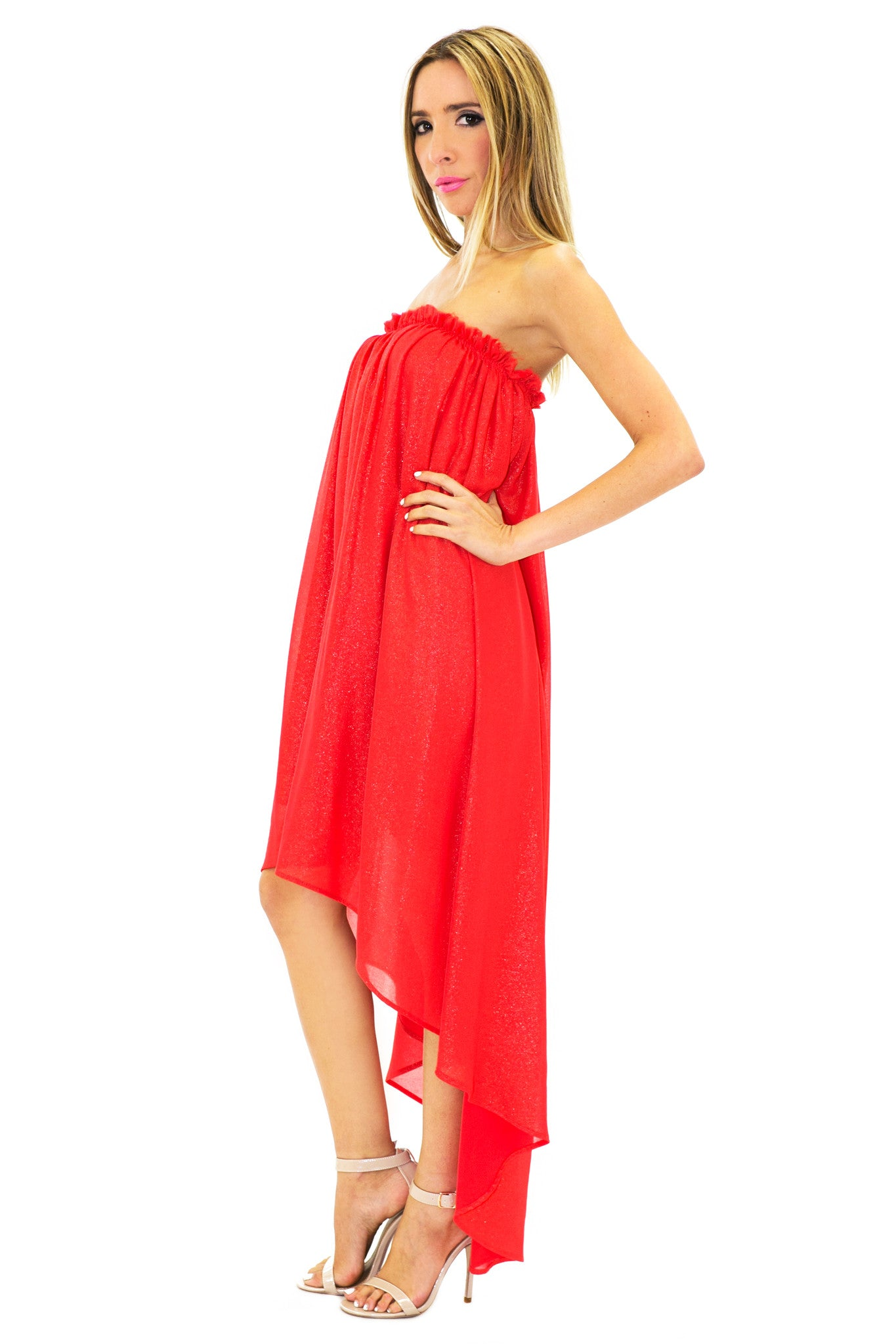 6d9abfb4 Penelope Sparkle High-Low Dress /// Only 1-S Left ///