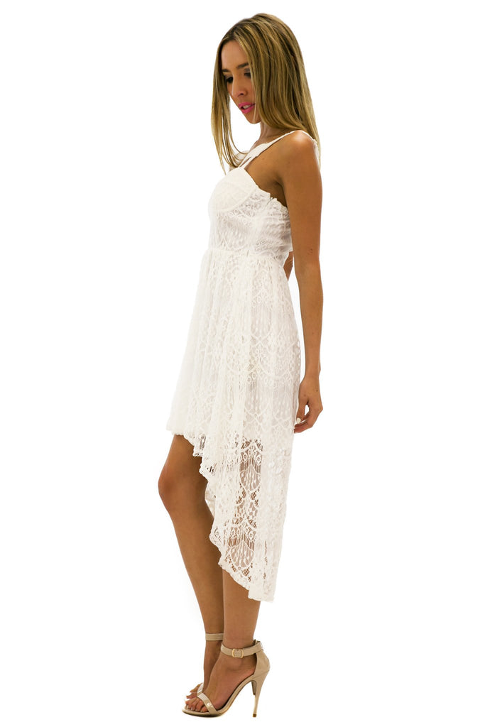 AVA HIGH-LOW LACE DRESS