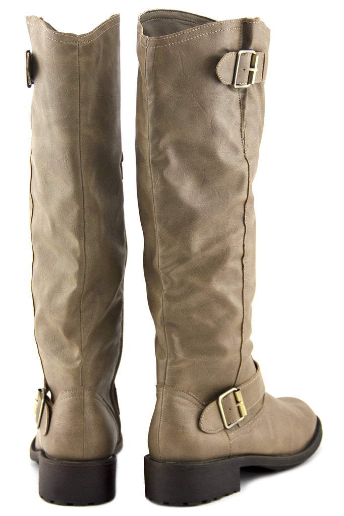 RIDING KNEE BOOT - Taupe