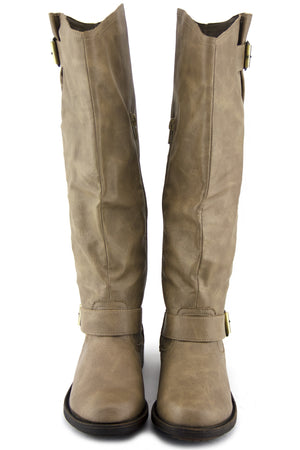 RIDING KNEE BOOT - Taupe - Haute & Rebellious
