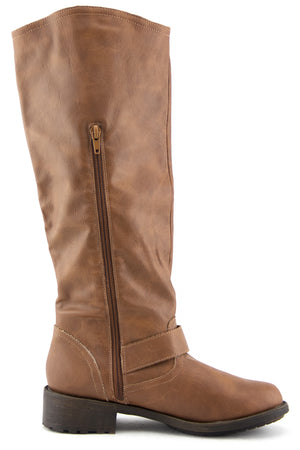 RIDING KNEE BOOT - Cognac - Haute & Rebellious
