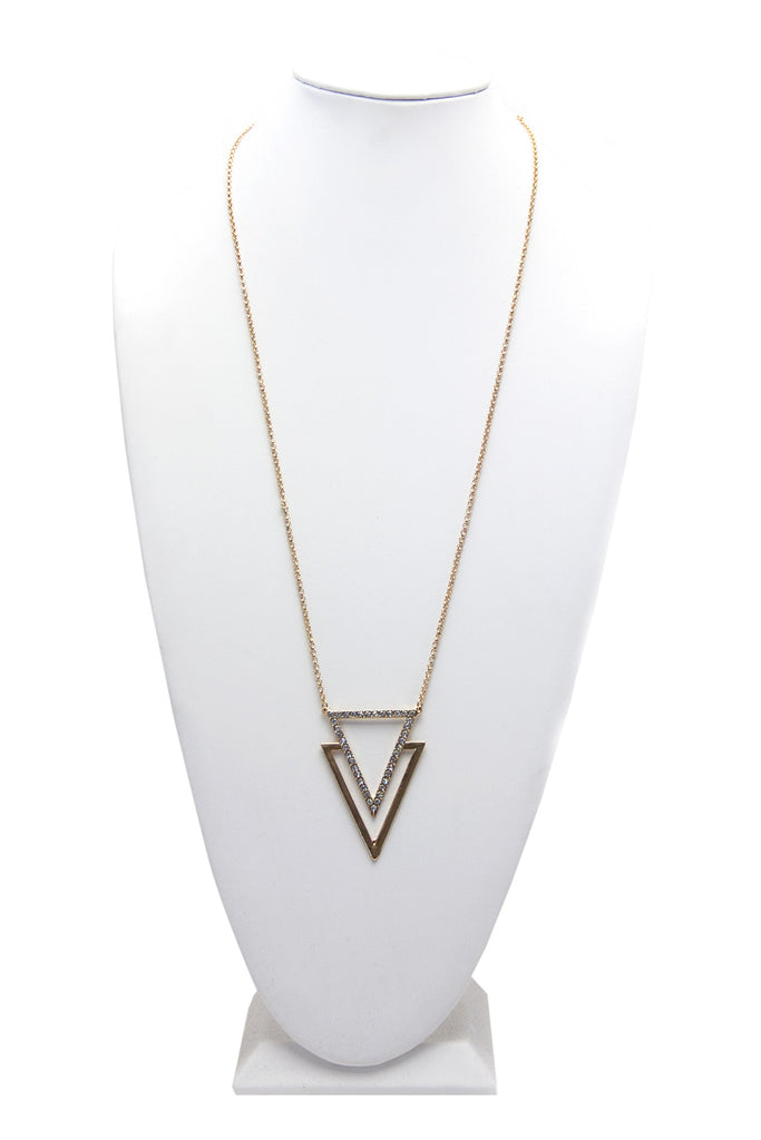 SEEING DOUBLE TRIANGLE NECKLACE