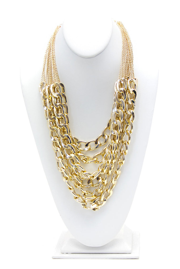CHAIN ON CHAIN NECKLACE