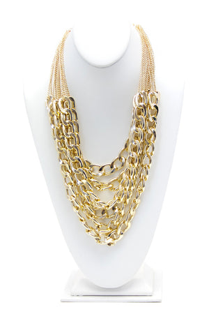 CHAIN ON CHAIN NECKLACE - Haute & Rebellious