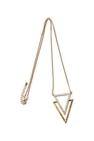 SEEING DOUBLE TRIANGLE NECKLACE - Haute & Rebellious