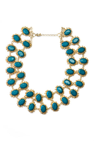 QUEEN MARY NECKLACE - Teal - Haute & Rebellious