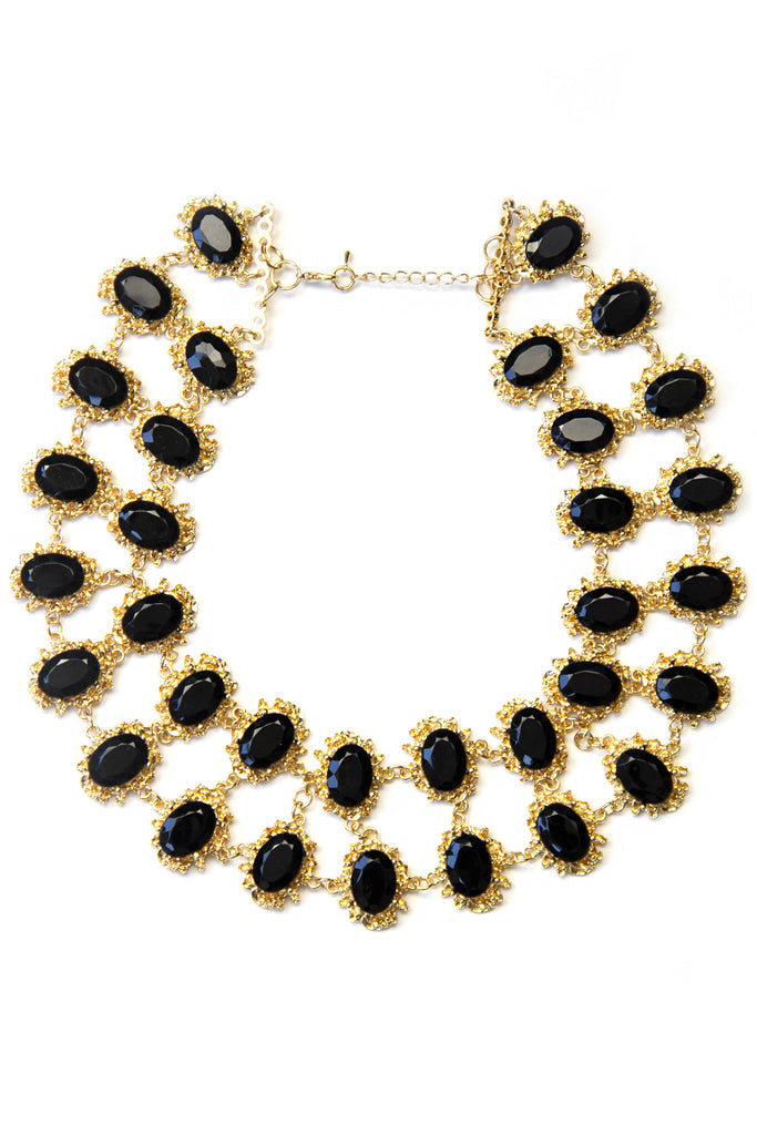QUEEN MARY NECKLACE - Black