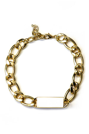 THICK ID CHAIN NECKLACE - Haute & Rebellious