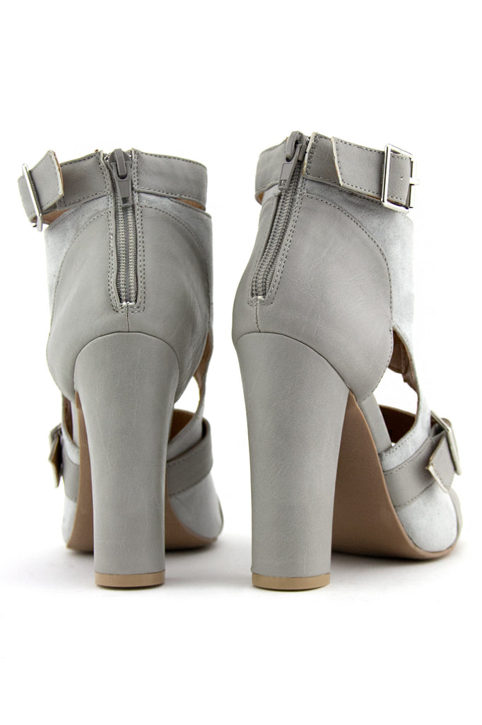 STRAPPY BOOTIE SANDAL - Light Grey