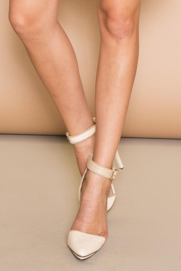 JANE ANKLE STRAP PUMP - NATURAL