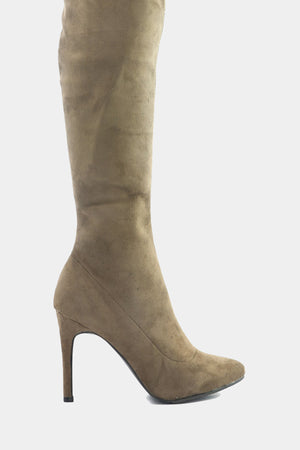 Cari Knee High Boots - Taupe /// Only Size 10 Left ///