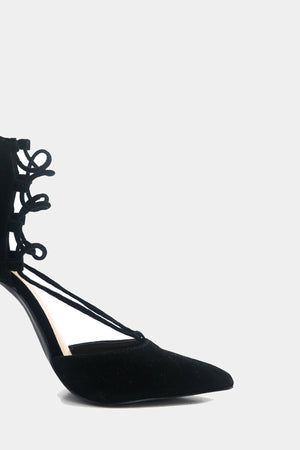 Lilian Suede Lace-Up Heel