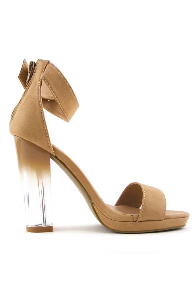 RAYVEN CLEAR HEEL - Sunset Beige