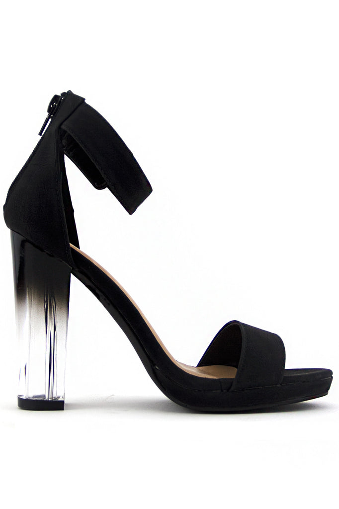 RAYVEN CLEAR HEEL - Midnight Black