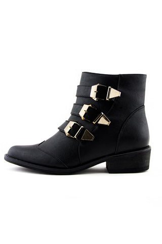 CLEAR HEEL BOOT - Black