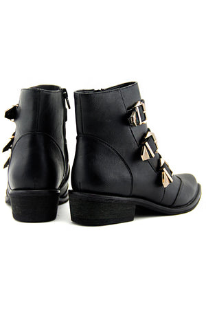 ELLIOT THREE BUCKLE BOOTIE - Haute & Rebellious