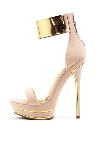 CLASSIC SINGLE STRAP HEEL - Beige