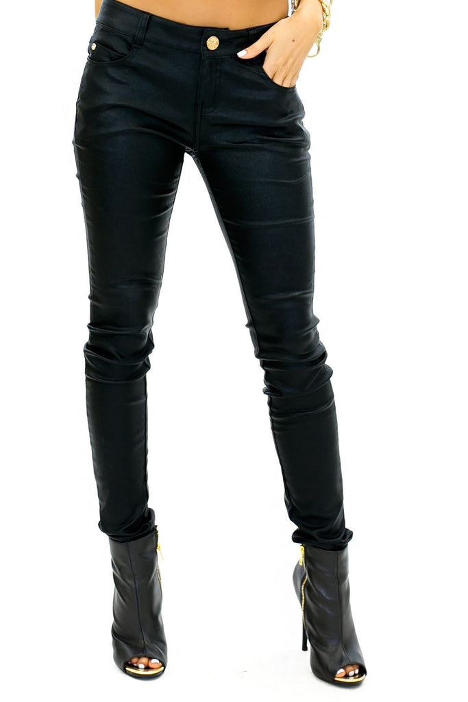 RUCKER LEATHER WAX SKINNY JEAN - Haute & Rebellious