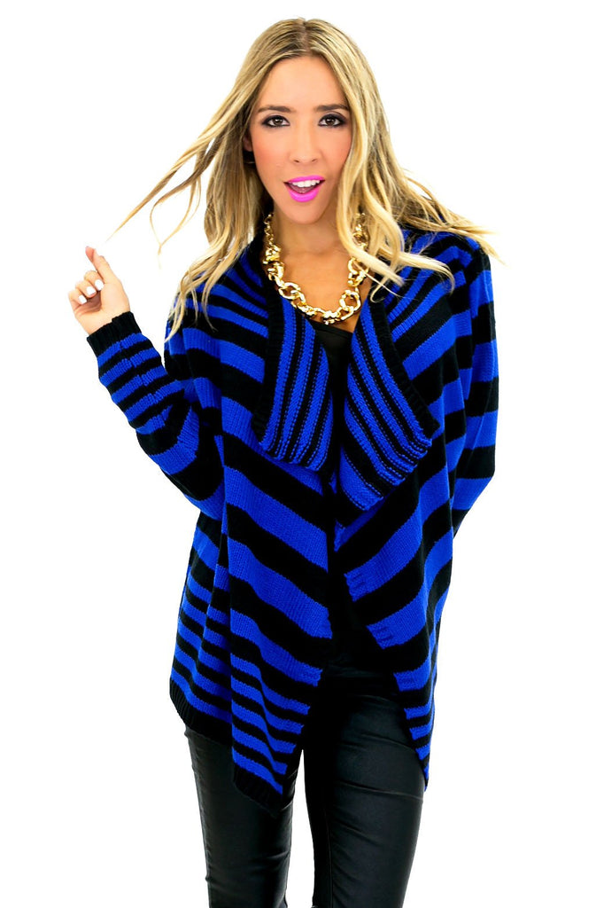 BENSON STRIPE KNIT CARDIGAN - Haute & Rebellious