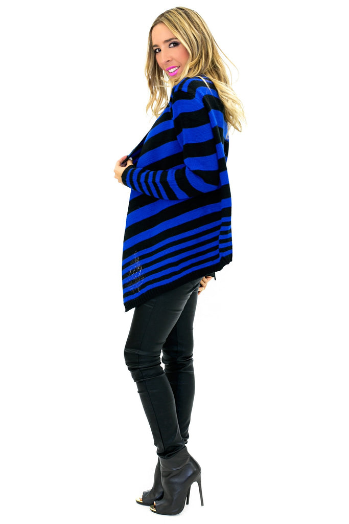 BENSON STRIPE KNIT CARDIGAN