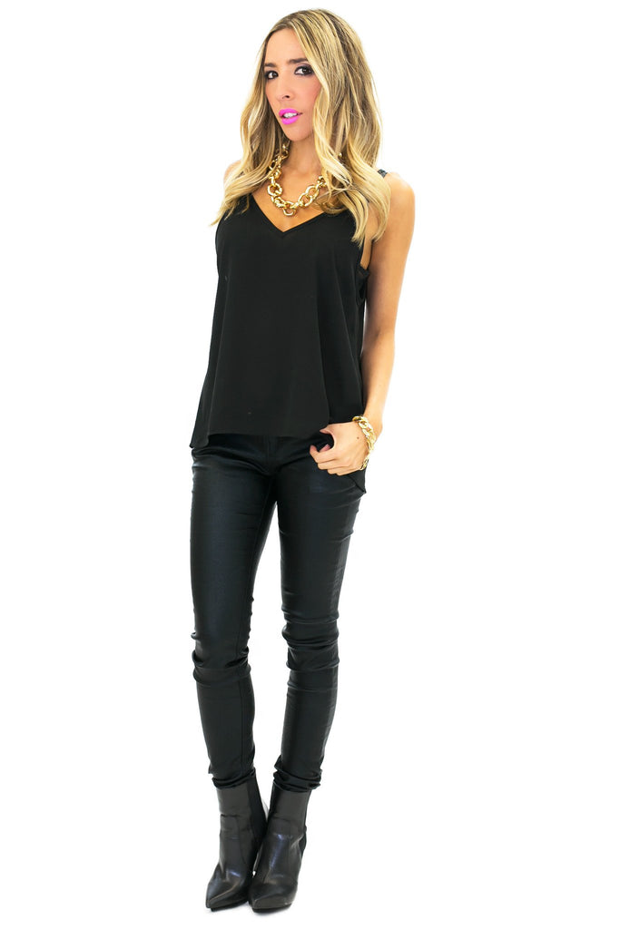 JOIE CHIFFON TOP - Black