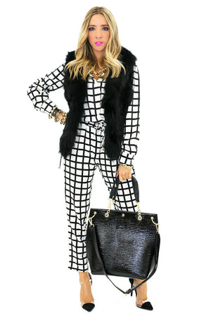 BEN CHECKERED BLOUSE - Haute & Rebellious