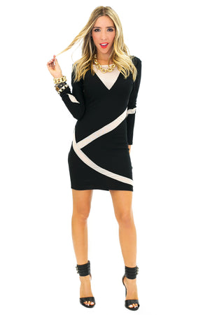 VERA MESH CONTRAST DRESS - Haute & Rebellious