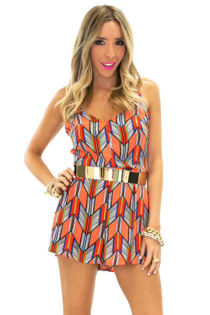 SUN TRIBAL PATTERN ROMPER