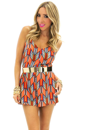 SUN TRIBAL PATTERN ROMPER - Haute & Rebellious