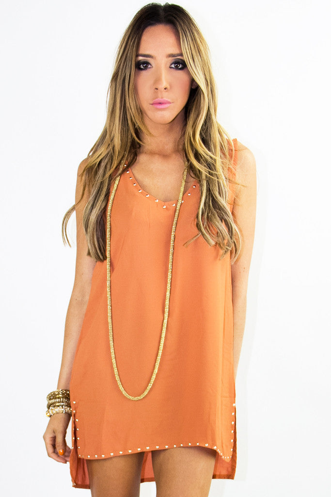 STUDDED TUNIC - Copper