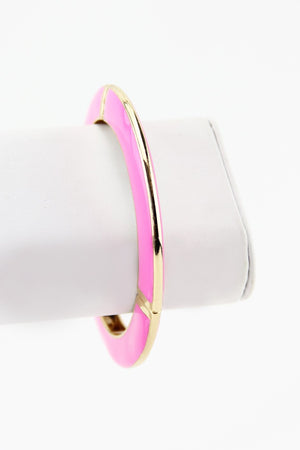 COLORED GEL BANGLE - Pink - Haute & Rebellious