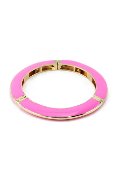 COLORED GEL BANGLE - Pink