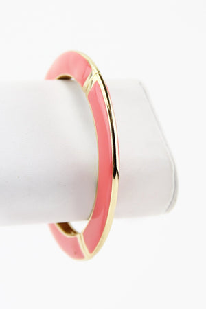 COLORED GEL BANGLE - Coral - Haute & Rebellious