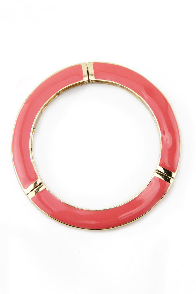 COLORED GEL BANGLE - Coral