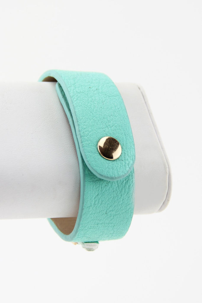 LEATHER & CHAIN BAND - Mint