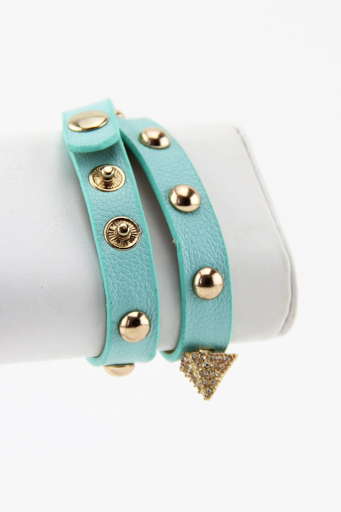 PYRAMID & STUDS BAND - Mint - Haute & Rebellious