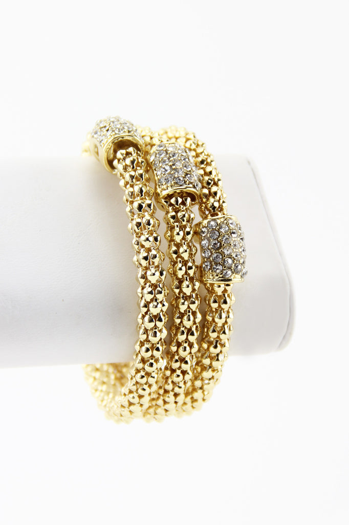 TRIPLE GOLD ROPE BANGLES - Gold - Haute & Rebellious