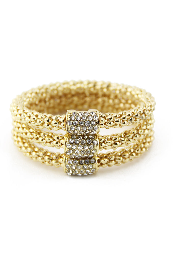 TRIPLE GOLD ROPE BANGLES - Gold