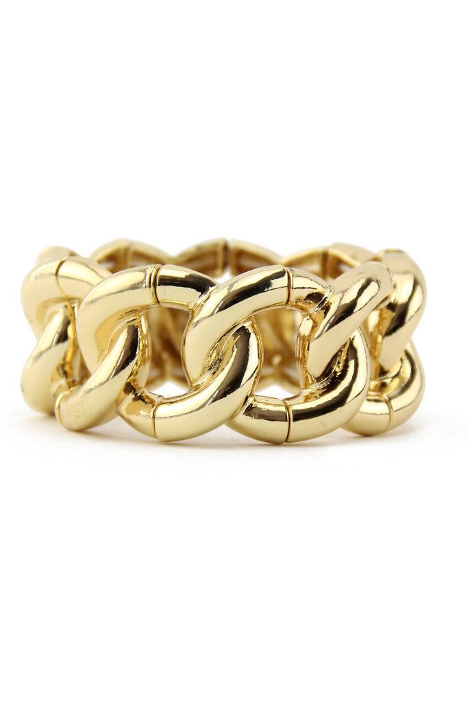 LARGE GOLD CHAIN LINK BRACELET - Gold