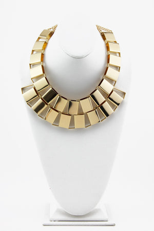 GOLD PLATED LINK NECKLACE - Gold - Haute & Rebellious