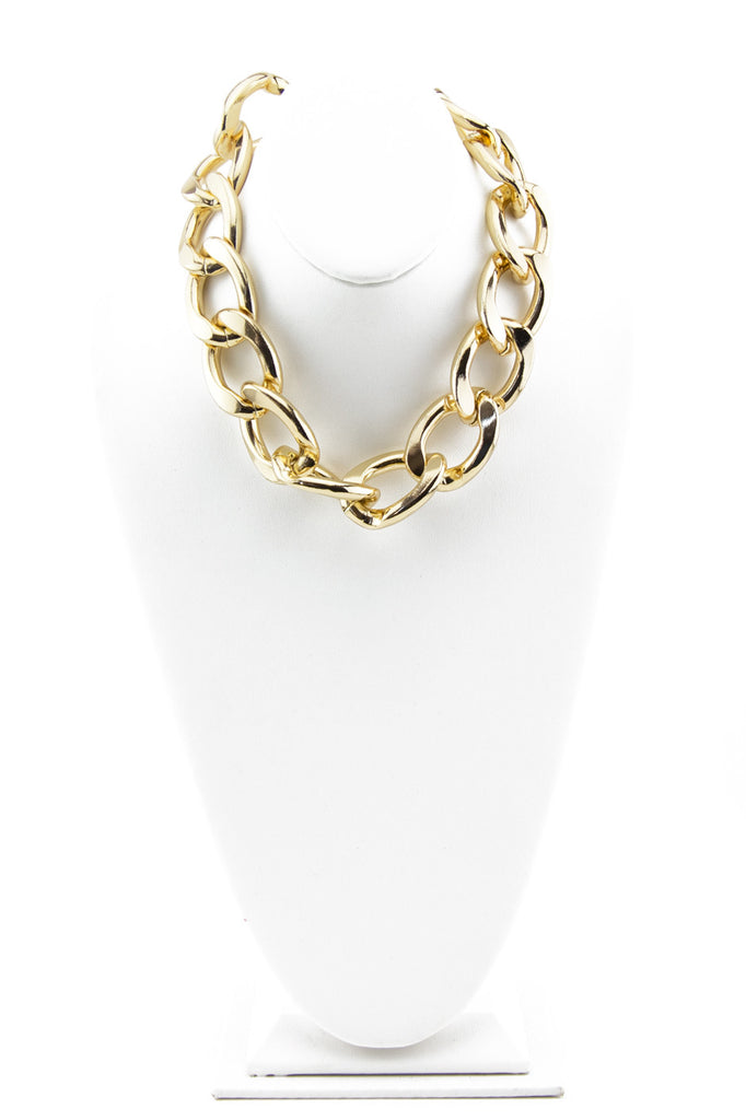 SOLID GOLD CHAIN LINK NECKLACE