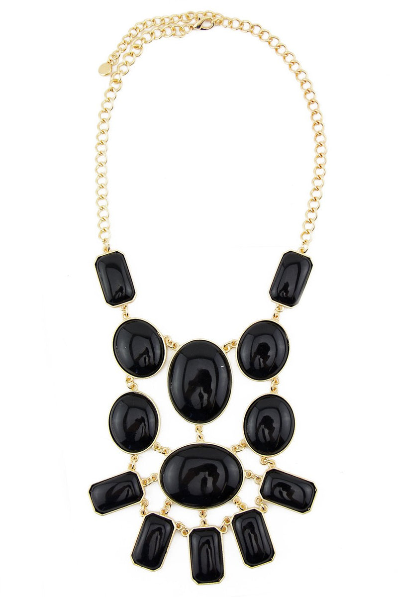 BLACK STONES NECKLACE - Haute & Rebellious